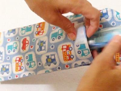 Porta Escova e Pasta de Dente Encapado com Tecido - Artesanato DIY