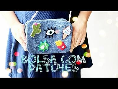 Bolsa Jeans com Patches - DIY