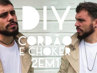 Como fazer um choker e colar 2 em 1 | DIY | DANIEL MOONEY
