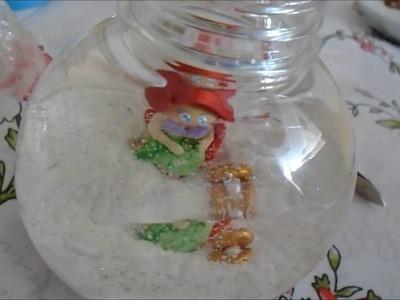 DIY - Lembrancinha  Pequena Sereia no Aquário