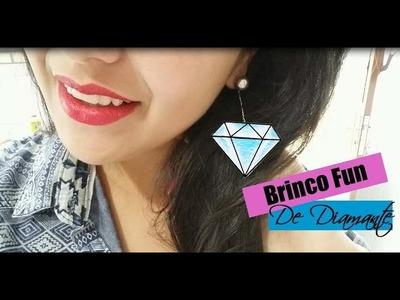 DIY Brinco Fun de Diamante Feito com CD | Brinco das Gringas