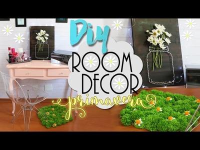 DIY: Room Decor primavera - Decoração de quarto com flores! ♥