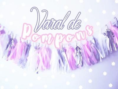 DIY TUMBLR : VARAL DE POMPONS