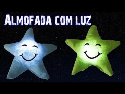 Almofada de Estrela com LUZ - DIY -