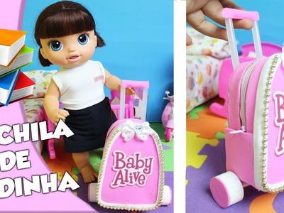 COMO FAZER | Mochila de Rodinha para Baby Alive | DIY - Lilly Doll