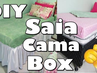 DIY: Como fazer saia para cama box - Fácil de vestir.Adriana Luna