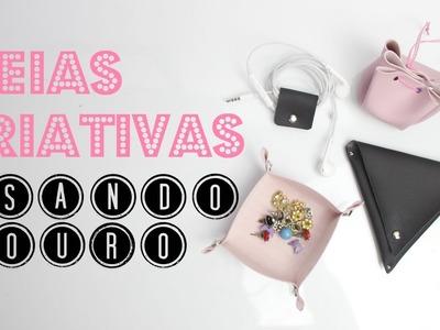 DIY Idéias CRIATIVAS e ÚTEIS com Couro | Larissa Vale