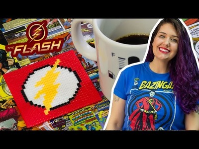 Porta Copos The Flash - DIY Geek Pixel Art