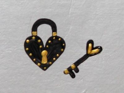 Como Desenhar Coração Cadeado + Chave | Passo a Passo Simples | DIY | Unhas da Lalá