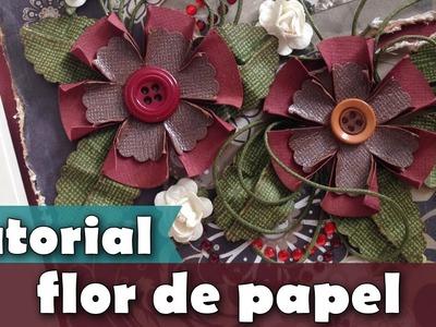 Como fazer | Flor círculo de papel | Tutorial | PAP | DIY