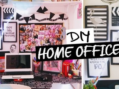 DIY: Ideias de decoração para o Home Office  (preto e branco)