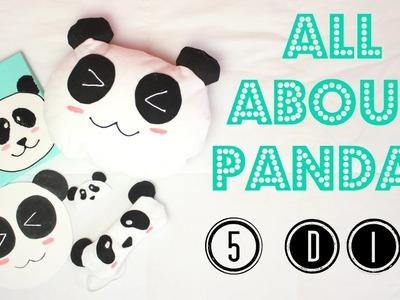 DIY Pandas! (Quadrinho, Almofada, Marcador de Página, Mouse Pad e Máscara de Dormir) | Larissa Vale