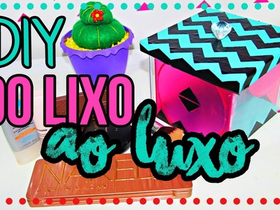DiY: Porta Maquiagem| DO LIXO AO LUXO 1 |Tatiane Xavier