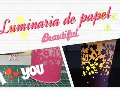 DIY | Como Fazer Luminaria de papel - #Papelemtudo