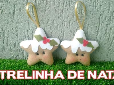 DIY - Enfeites de Natal - Estrelinha de Feltro - Passo a Passo