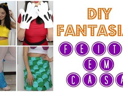 DIY Fantasias CRIATIVAS de Halloween (Unicórnio, Minnie, Sereia, Pikachu) | Larissa Vale
