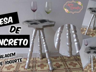 Mesa de Concreto  #artedesafio :: EMBALAGEM DE IOGURTE