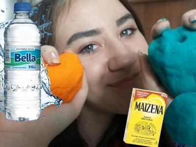 D.I.Y. - Massinha Play Doh De Água E Maizena ( Como Fazer ) .