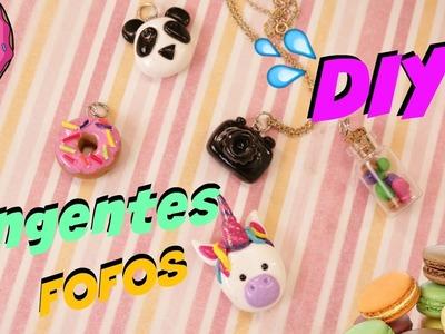 DIY: COMO FAZER PINGENTES  FOFOS - DE MASSA FIMO OU BISCUIT - 5 PINGENTES
