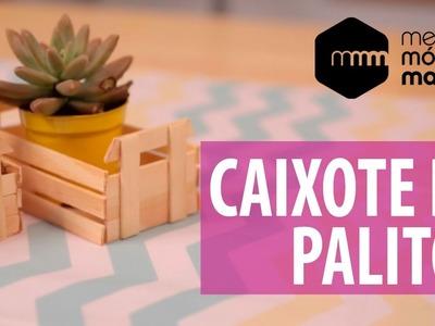 DIY Minicaixote com palitos de picolé!
