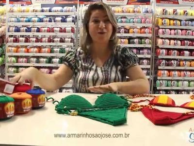 Biquíni de crochê com Verano - por Simone Eleotério no Armarinho São José