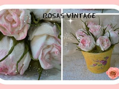 Como fazer rosas vintage