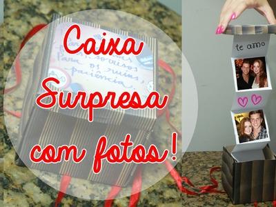 DIY: Caixa Surpresa com Fotos ♥ Presentes para Namorados