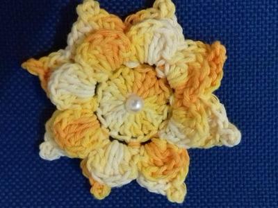 Passo a Passo da Flor em  Crochê  - Jogo de Banheiro por Cristina Coelho Alves