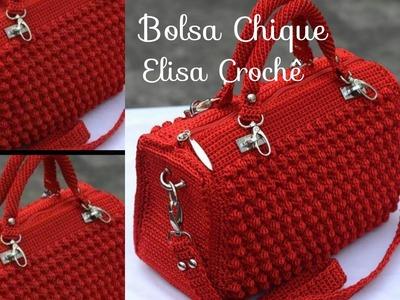 Versão canhotos : Bolsa chique em crochê ( 1ª parte ) # Elisa Crochê