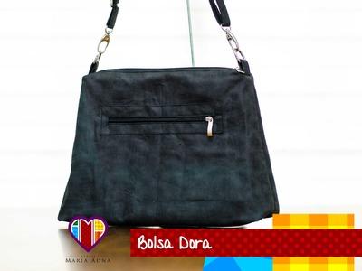 Bolsa fácil rápida e básica de tecido Dora - Passo a passo - Maria Adna Ateliê - Bolsas de tecido