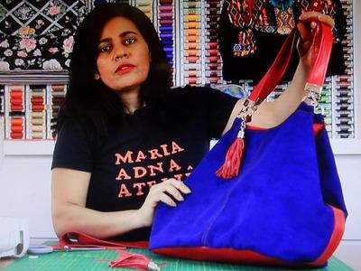 Bolsa sacola Monika - Cursos e vendas de bolsas de tecido é no Maria Adna Ateliê