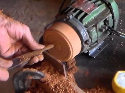 Como fazer polia de madeira p\ motor