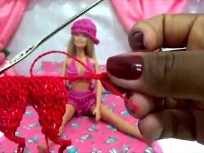 Como fazer top para Barbie em crochê