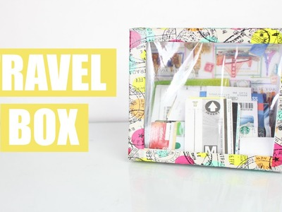 DIY Como fazer Caixa Lembranças de Viagem (Travel Box) | Larissa Vale