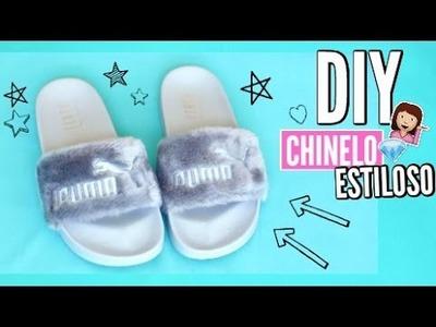 DIY Fácil: CHINELO de PELÚCIA da Puma | Fur Slide Fenty Rihanna