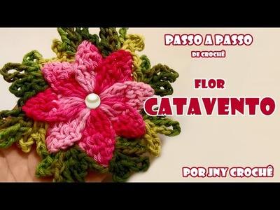 PAP Flor Catavento de crochê - JNY Crochê