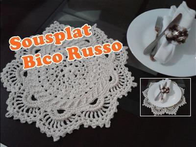 Sousplat Crochê  Bico Russo