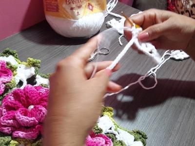 Caminho de mesa com a flor caracol