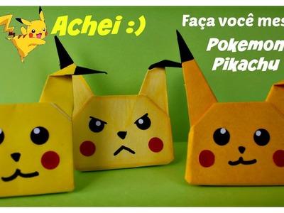 Como fazer Pokemon Pikachu com papel - Origami - dobradura com papel - Brincar Kids Toys