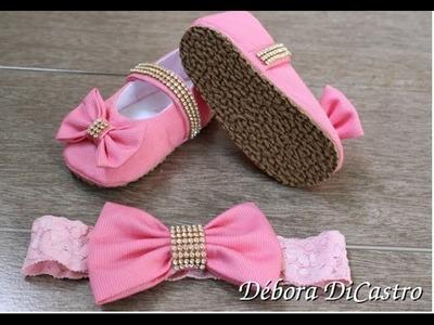 Debora DiCastro-Como colocar sola no sapatinho de tecido