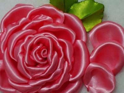 Flor de tecido - PÈTALA da  ROSA Lindaaa número 3!!! PASSO à PASSO!!^^