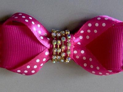 Laço de fitas de cetin rapido de fazer Passo a Passo - -D.I.Y ,PAP -Satin ribbon bow