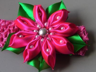 Novo modelo de flor super diferente- Passo a Passo - Flower tapes