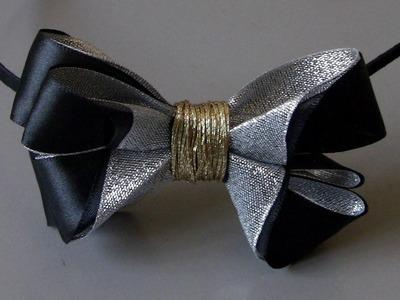 Tiara com laço de fitas de  organza e  cetim Passo a Passo - -D.I.Y ,PAP -Satin ribbon bow