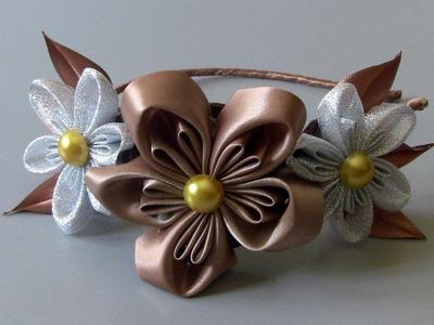 Tiara com novo modelo de flores Passo a Passo DIY