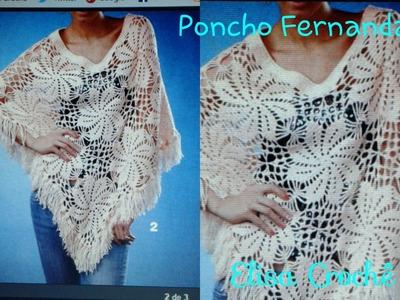 Aula 398-Versão destros: Poncho Fernanda em crochê  (1° parte Explicação)# Elisa Crochê