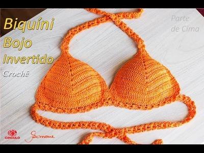 Biquíni de Crochê com bojo invertido | Tamanhos: P,M,G,GG e EXG Professora Simone