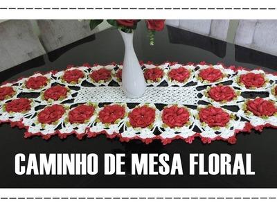 CAMINHO DE MESA FLORAL.DIANE GONÇALVES