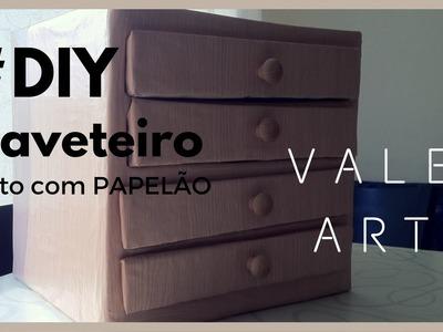 DIY: Como Fazer Gaveteiro de Papelão - Organizador de Papéis e Outros.