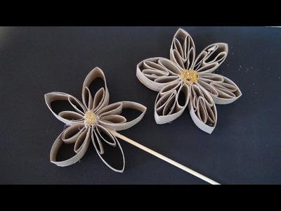 Flor de Rolinho de Papel Higiênico #5